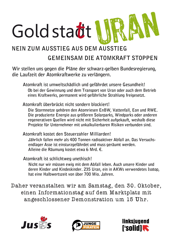 Anti akw demo flyer