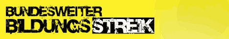 bildungsstreik banner
